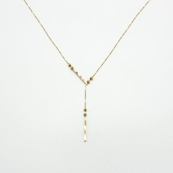 Sliding Gravitas Necklace / 14k Gold