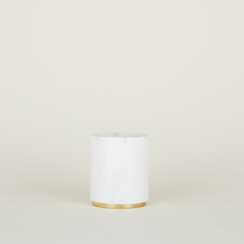 MARA MARBLE + COPPER UTILITY CANISTER - Large