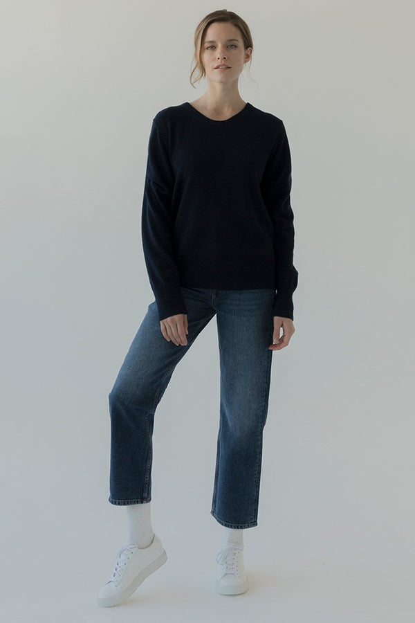 Women's Washable Cashmere Standard Crew