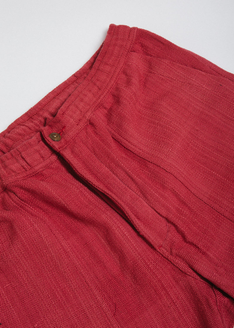 Utility Shorts in Pomegranate Nubby