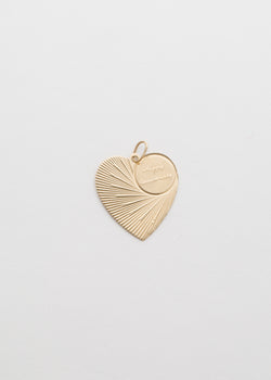 Vintage 14k Yellow Gold Heart Charm Pendant