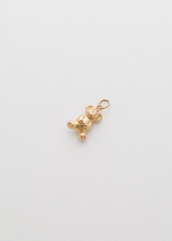 Vintage 10k Yellow Gold teddy Bear Pendant