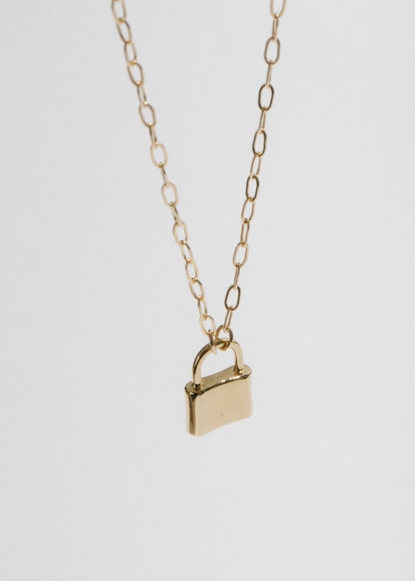 Holmes Padlock Necklace in 14k Plated