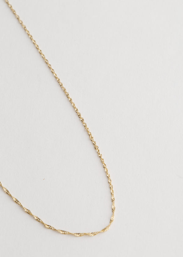 14k Gold Singapore Chain 18""