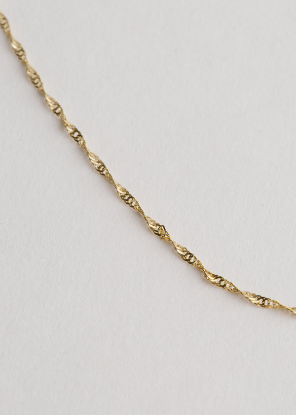 14k Gold Singapore Chain 16""