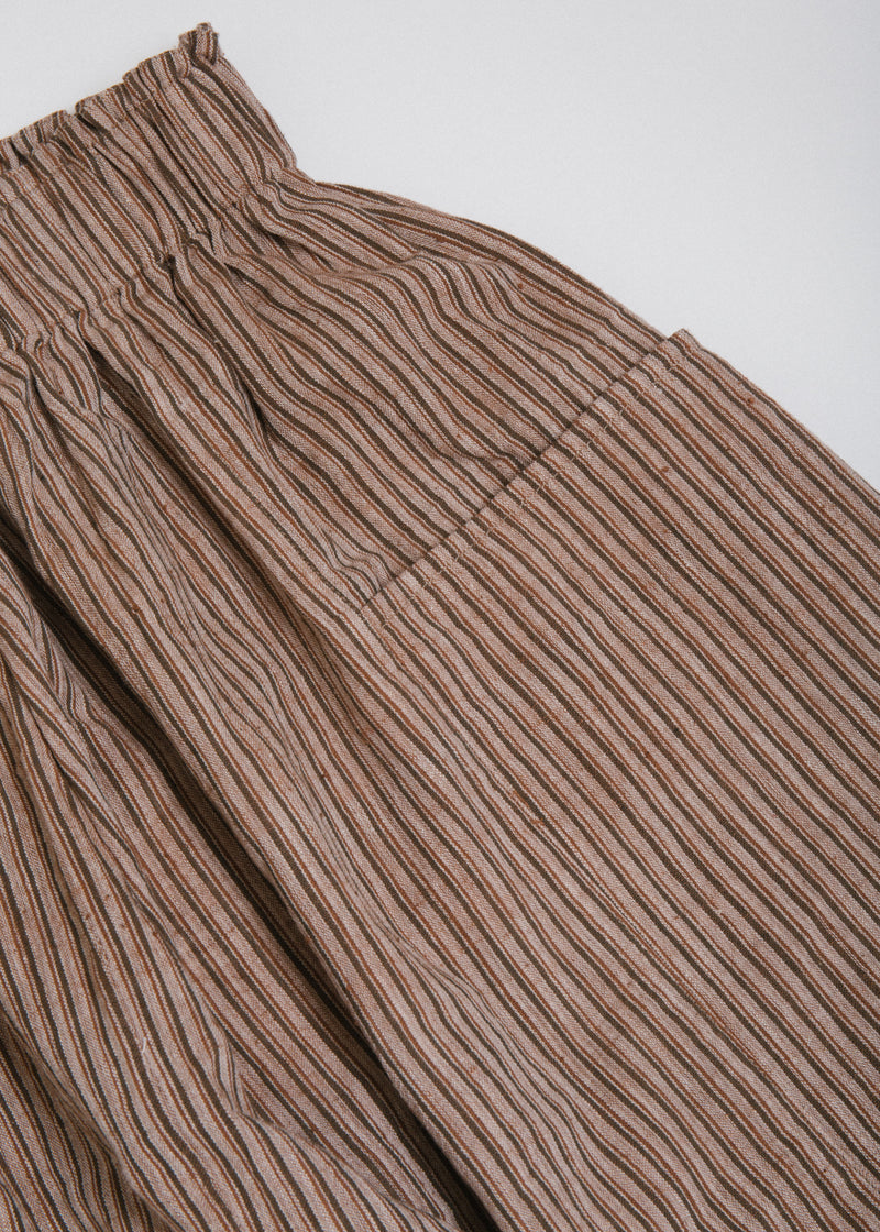 Front Pocket Pant in Taupe Thin Stripe
