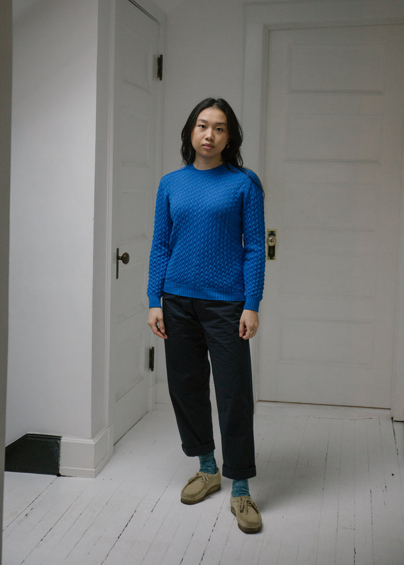 Merino Barclay Sweater, Bright Blue