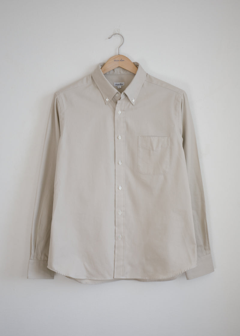 Classic Collegiate Shirt, Ecru Oxford