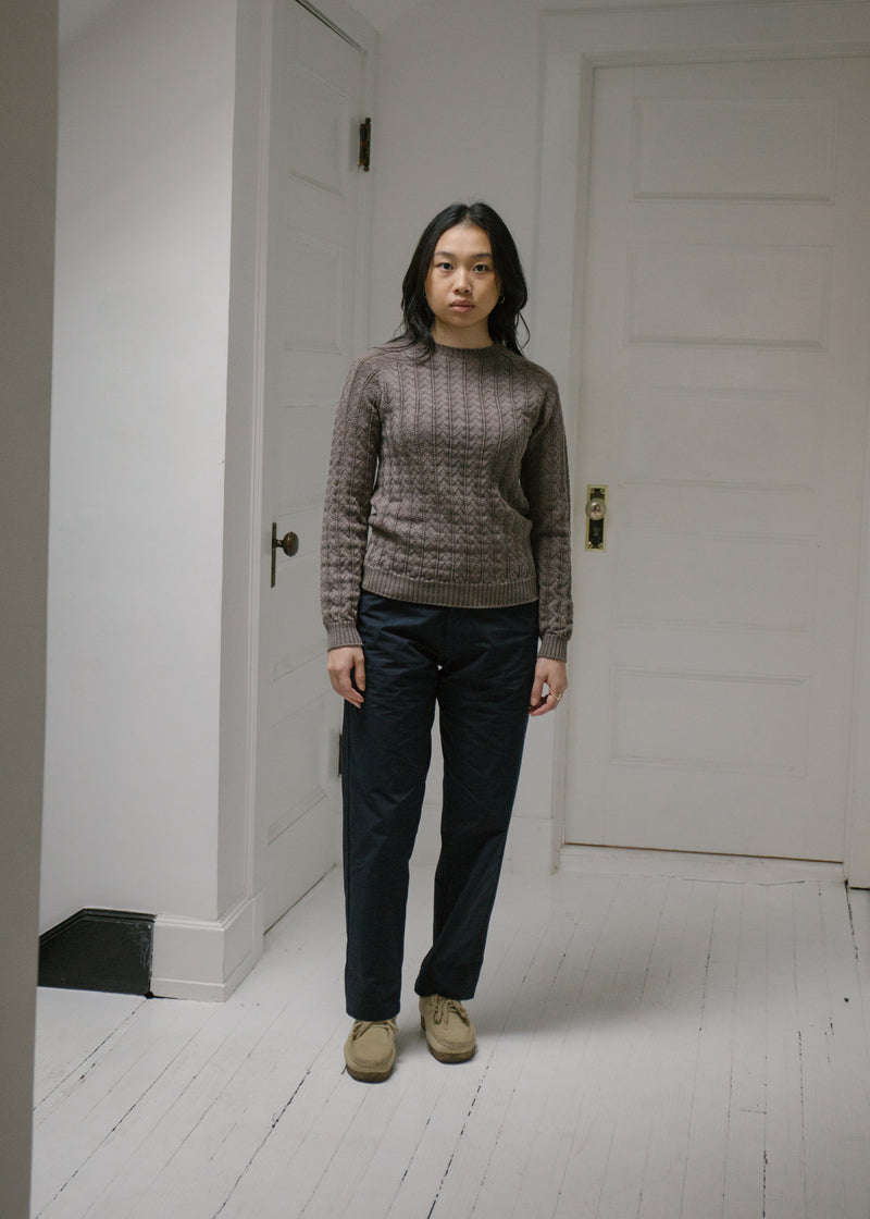 Merino Mulberry Sweater, Walnut