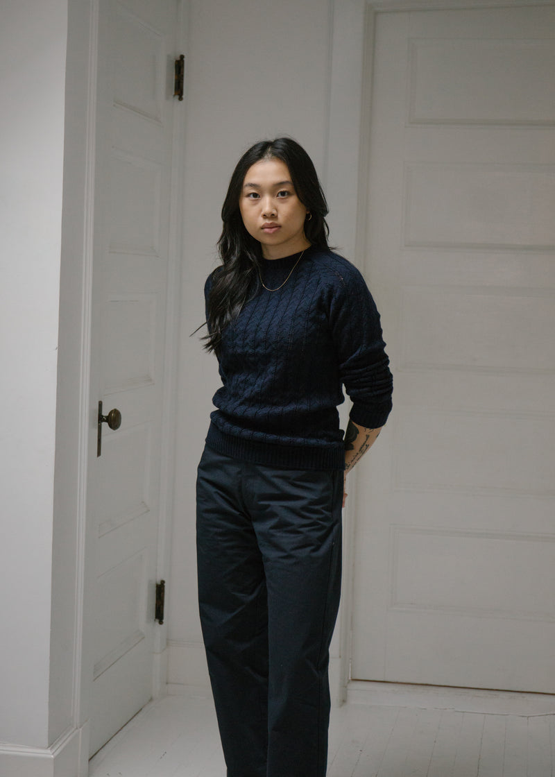 Merino Mulberry Sweater, Navy
