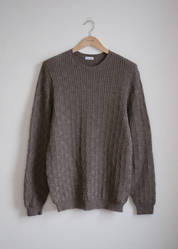 Merino Carlisle Sweater, Walnut