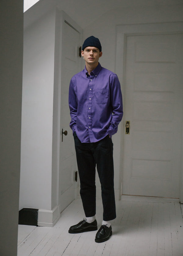 Classic Collegiate Shirt, Violet Oxford