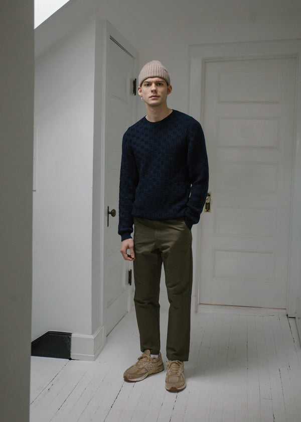 Merino Carlisle Sweater, Navy