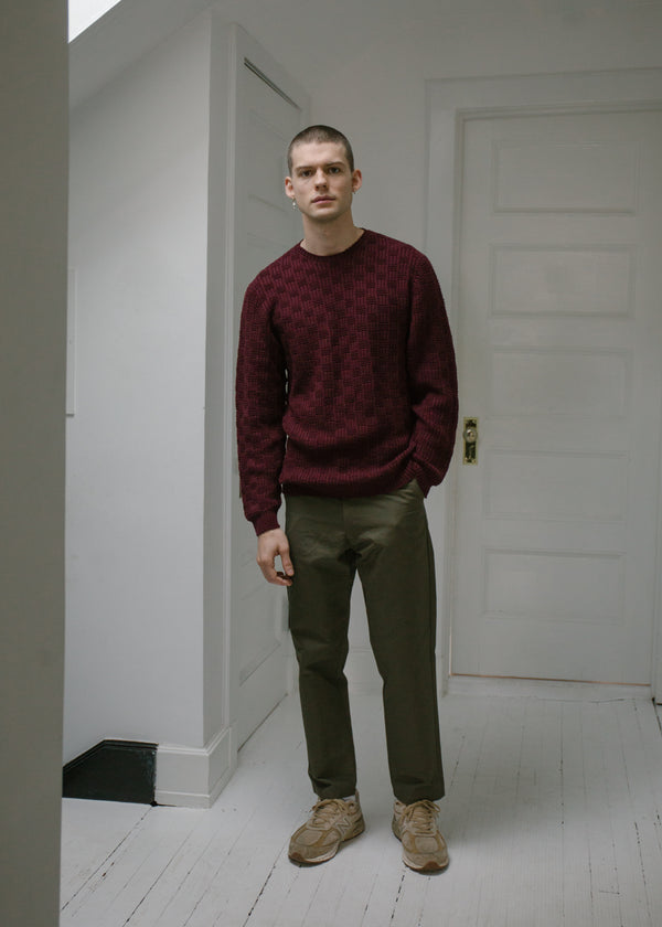 Merino Carlisle Sweater, Beetroot