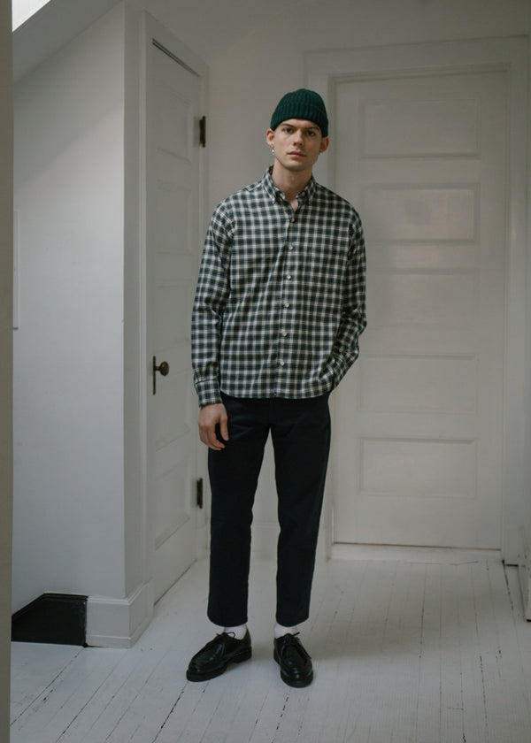 Single Needle Shirt, Fern Plaid