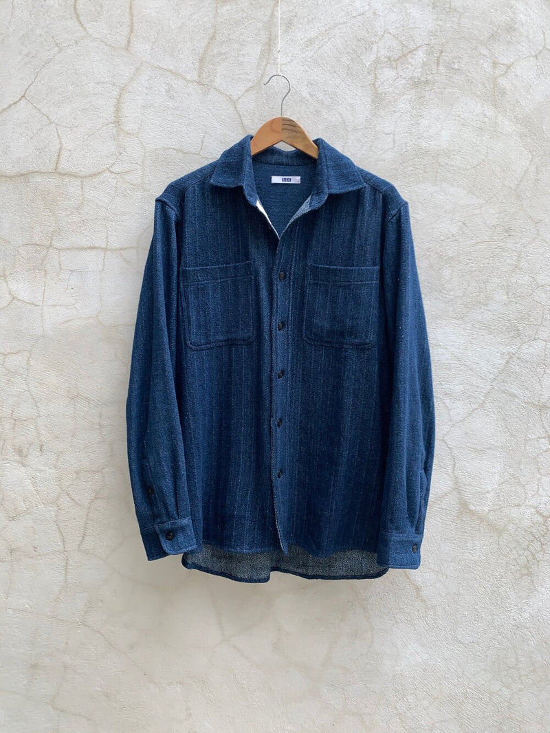 AMES OVERSHIRT - handwoven denim