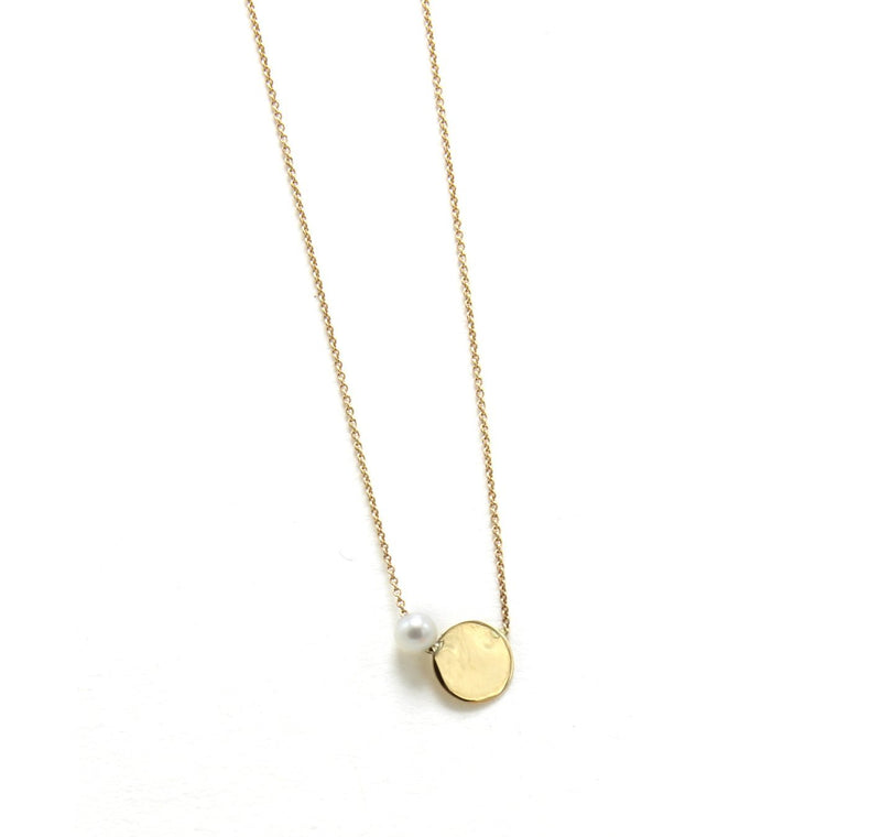 Sliding Lunita Necklace / 14k Gold