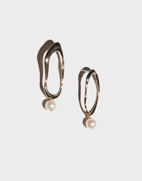 Organic Pearl Drop Earrings