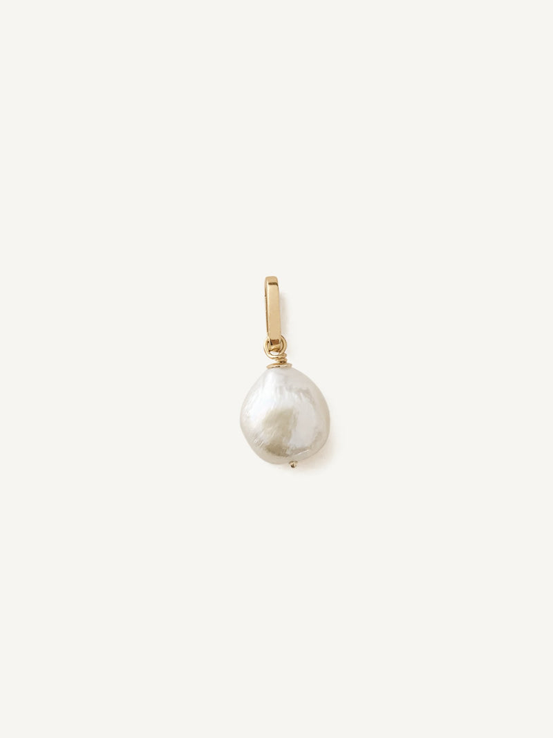 Baroque Pearl Drop Necklace (Link Chain)