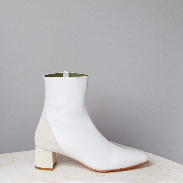 Simone Boot / Soft White Nappa