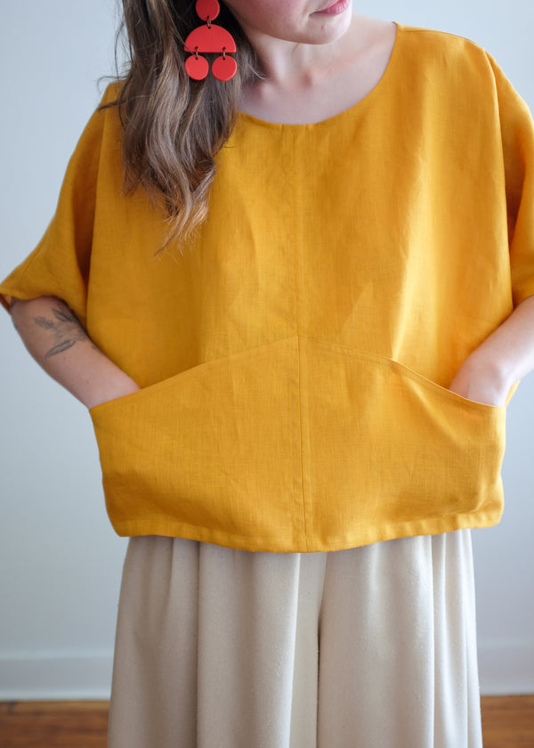 Linz Top in Turmeric