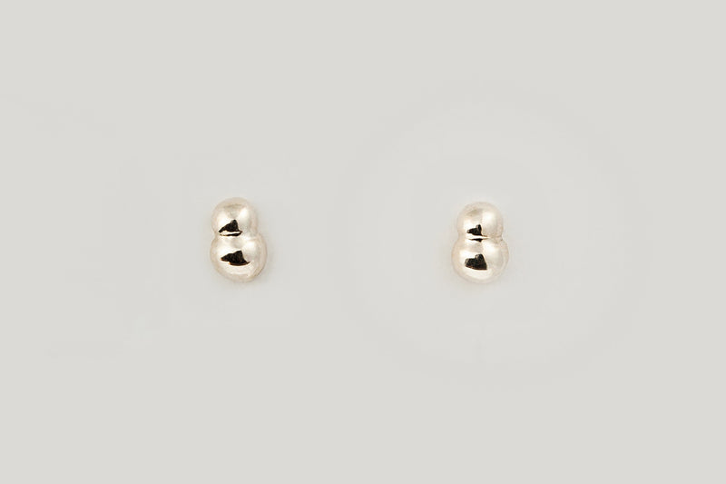 Bela Studs / 14k Yellow Gold, White Gold, or Sterling Silver