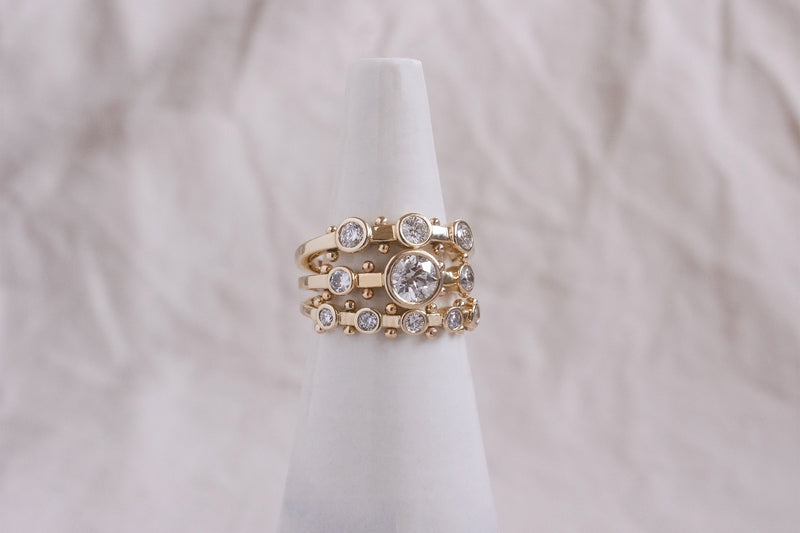 5-Stone White Diamond Koemi Ring