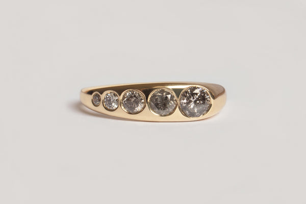 Grey Diamond Lila Suprima Ring / 14k Yellow, White, or Rose Gold
