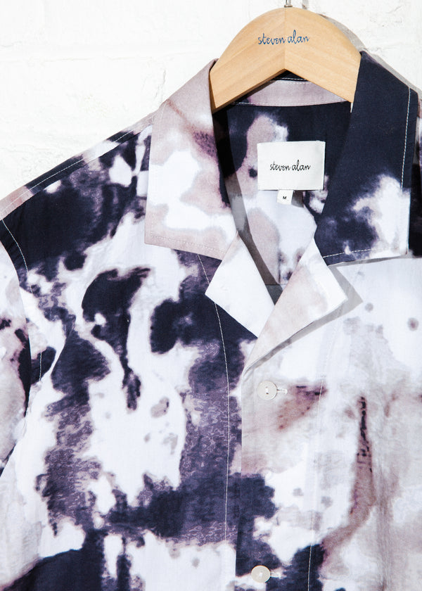 Camp Shirt in Ink Grey Tie Dye