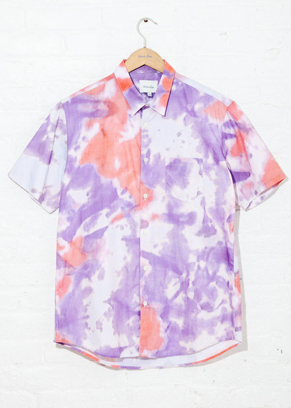 Short Sleeve Jasper Shirt in Pink Tie Dye
