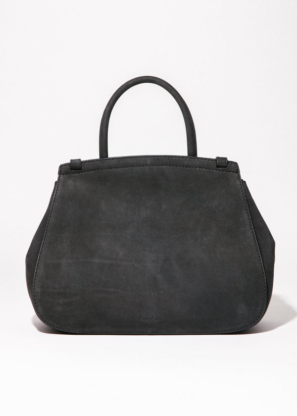 Kate Satchel in Black Suede