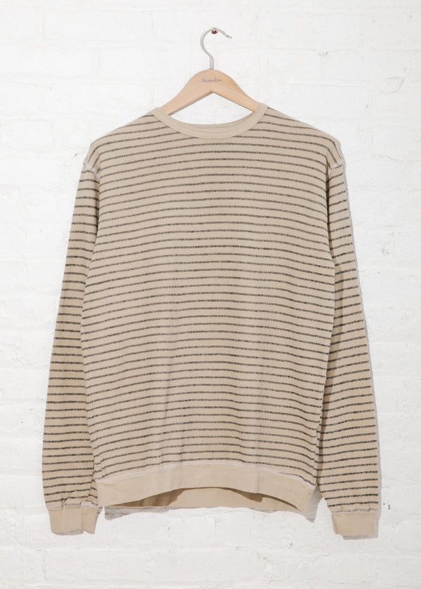 Yarn Stripe Crew in Flax