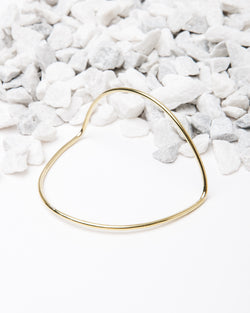 Arc Bangle in Brass
