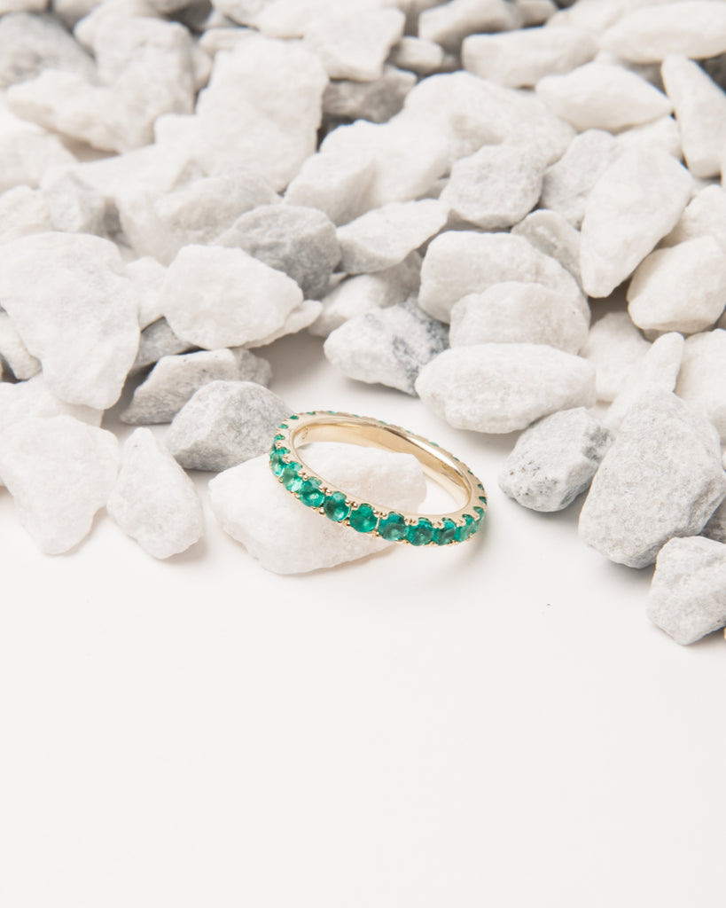 Large Emerald Eternity Band