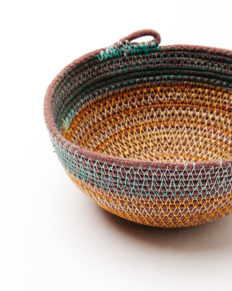 Small Bowl in Teal + Marigold