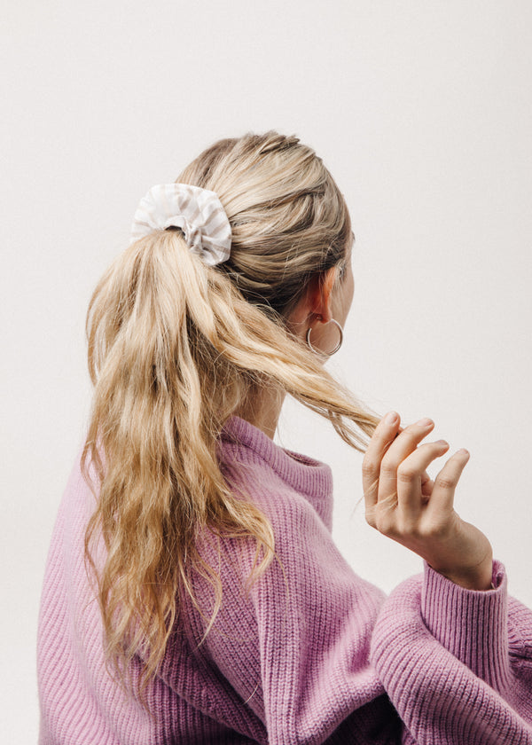 Scrunchie in Tan Stripe