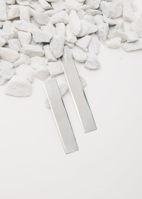 Silver Bar Earrings