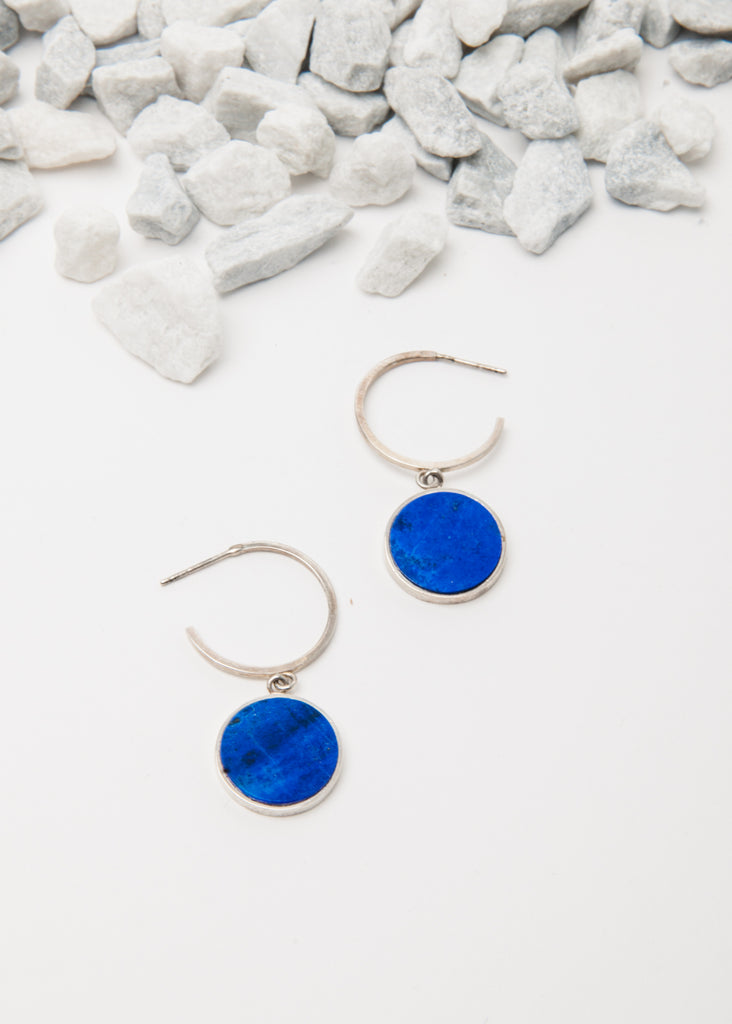 Oculus Hoops in Lapis