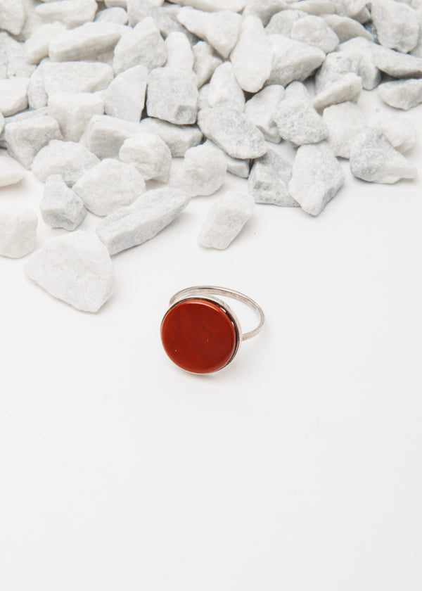 Oculus Ring in Red Jasper