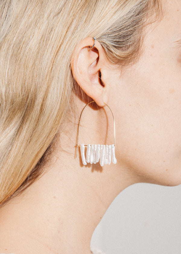Bam Bam Pearl Fringe Earrings