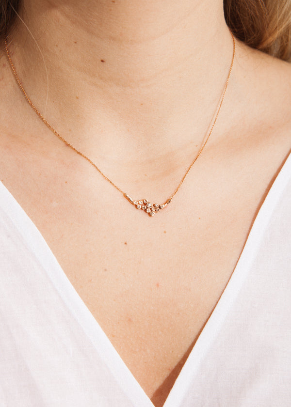 Twelve Diamond Cluster Necklace