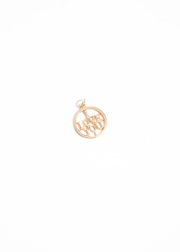 Vintage 14k I Love You Pendant