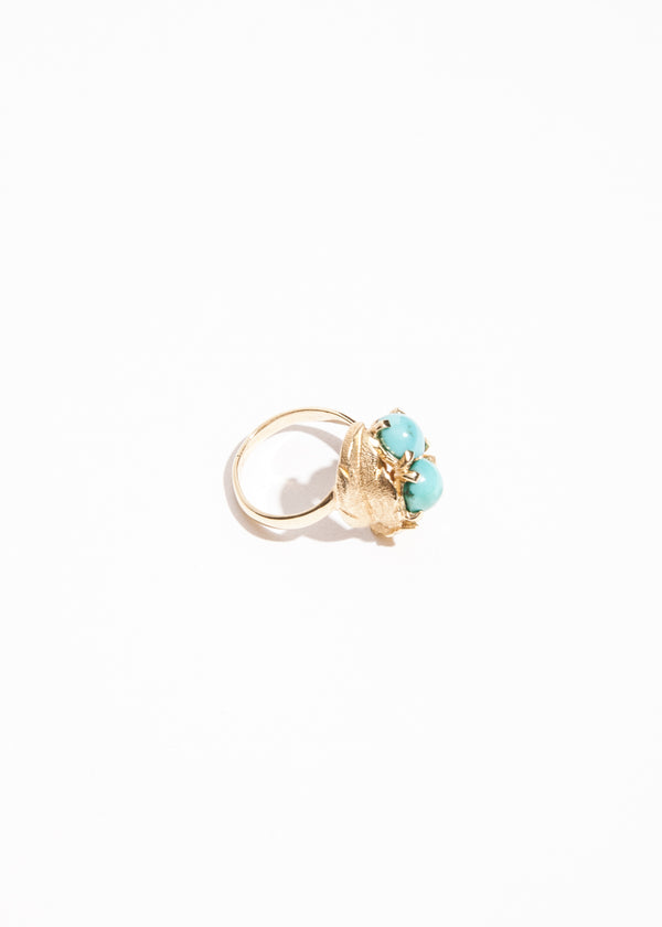 Vintage 14k Turquoise Cabochon Ring