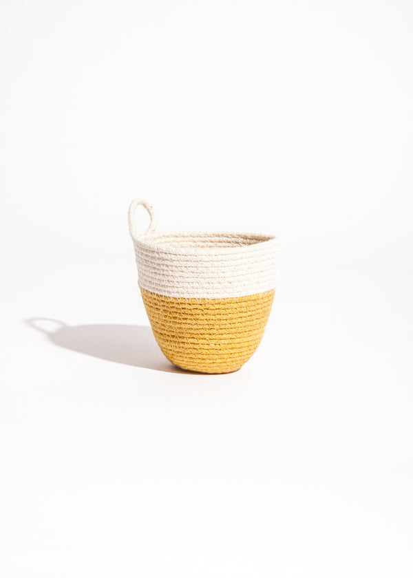 Mini Planter in Amber/Natural