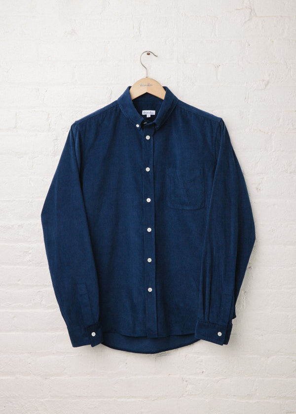 Classic Collegiate Shirt in Navy Corduroy