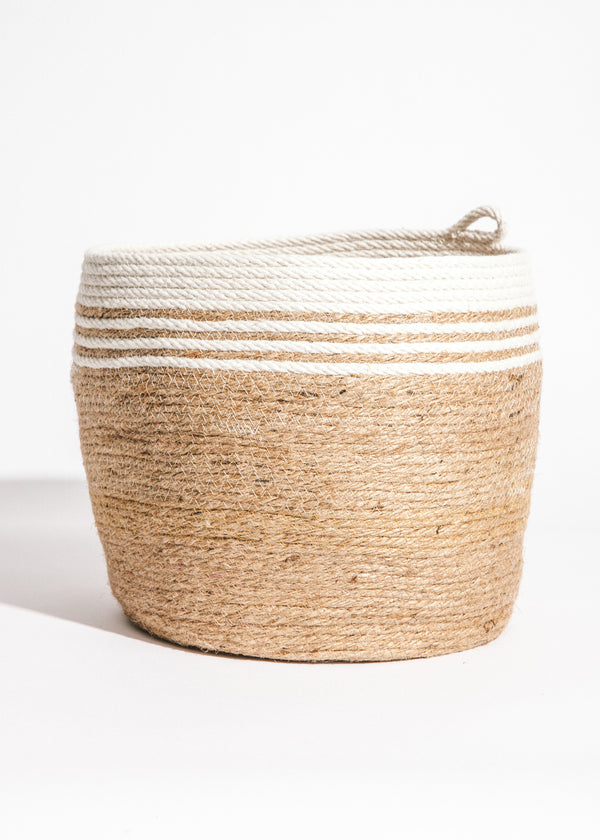 Large Bucket in Chunky Jute