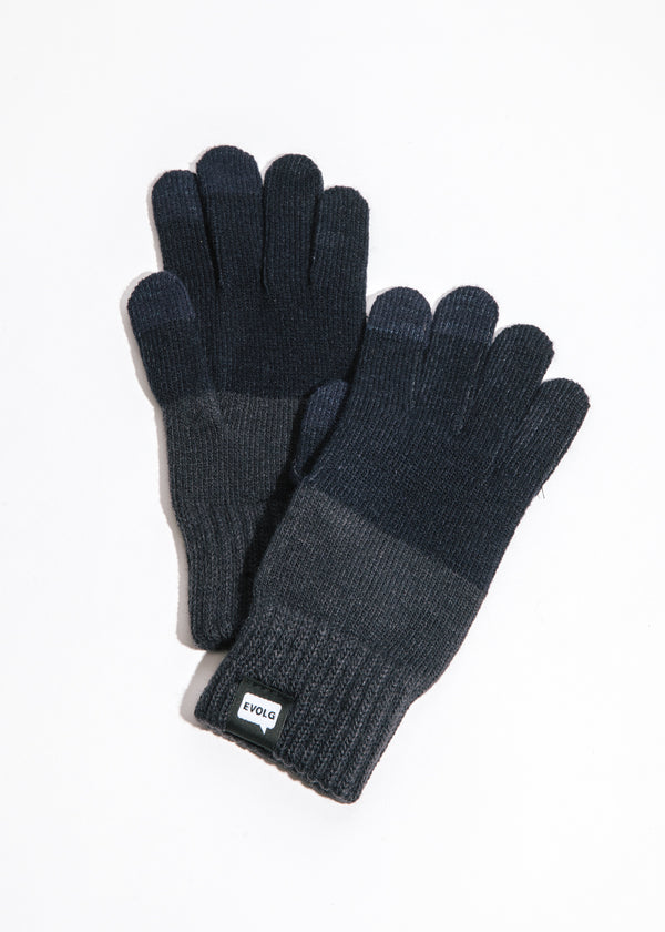 2Ton Touchscreen Gloves in Deep Blue x Grey