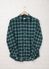 Staple Street Shirt in Navy/Green Check