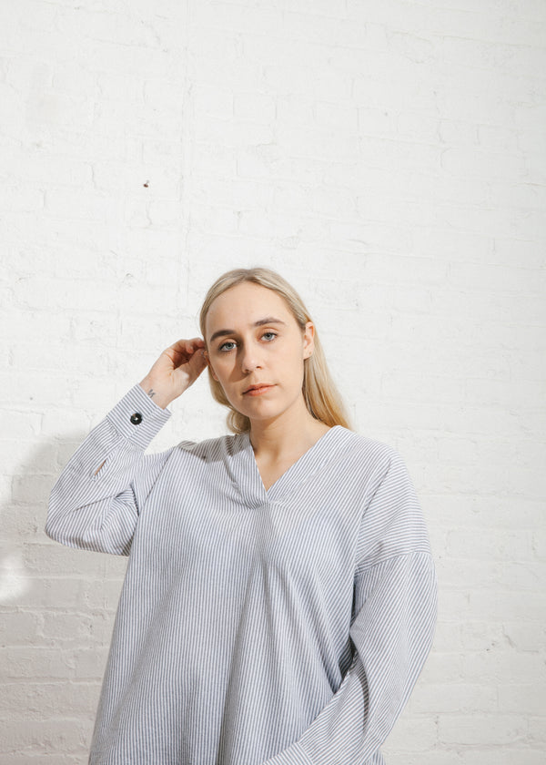 Split Neck Oversized Shirt