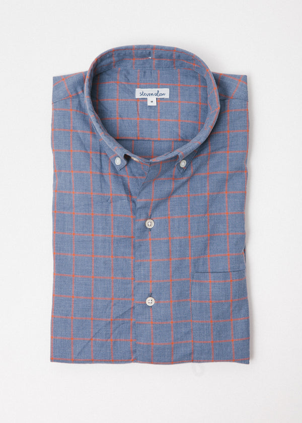 Single Needle Shirt in Satsuma Windowpane